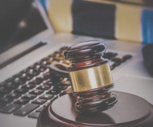Law legal concept laptop