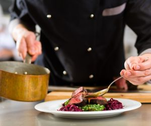 chef preparing gourmet food