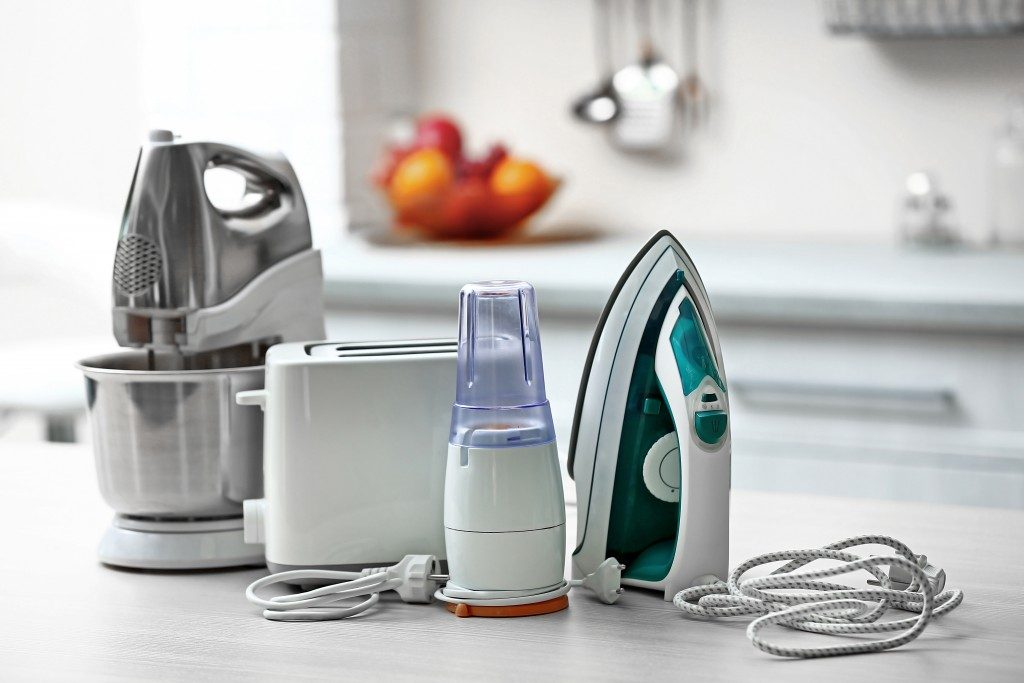 Household and kitchen appliances on the table
