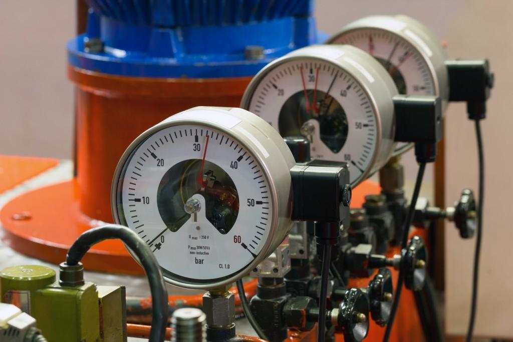 Meter on a pump