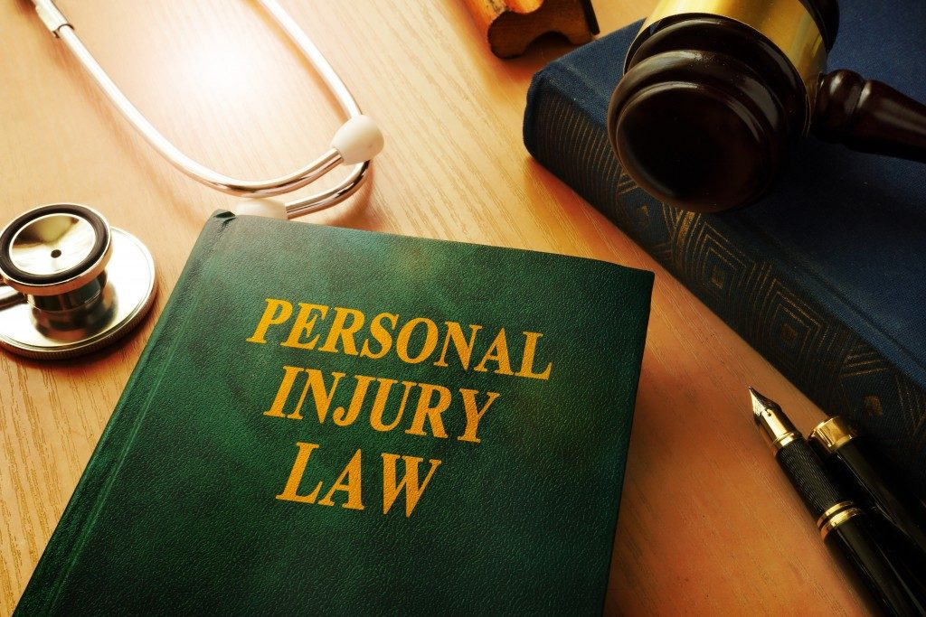 Personal Injury law book on a table