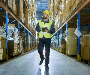 Man supervising the warehouse