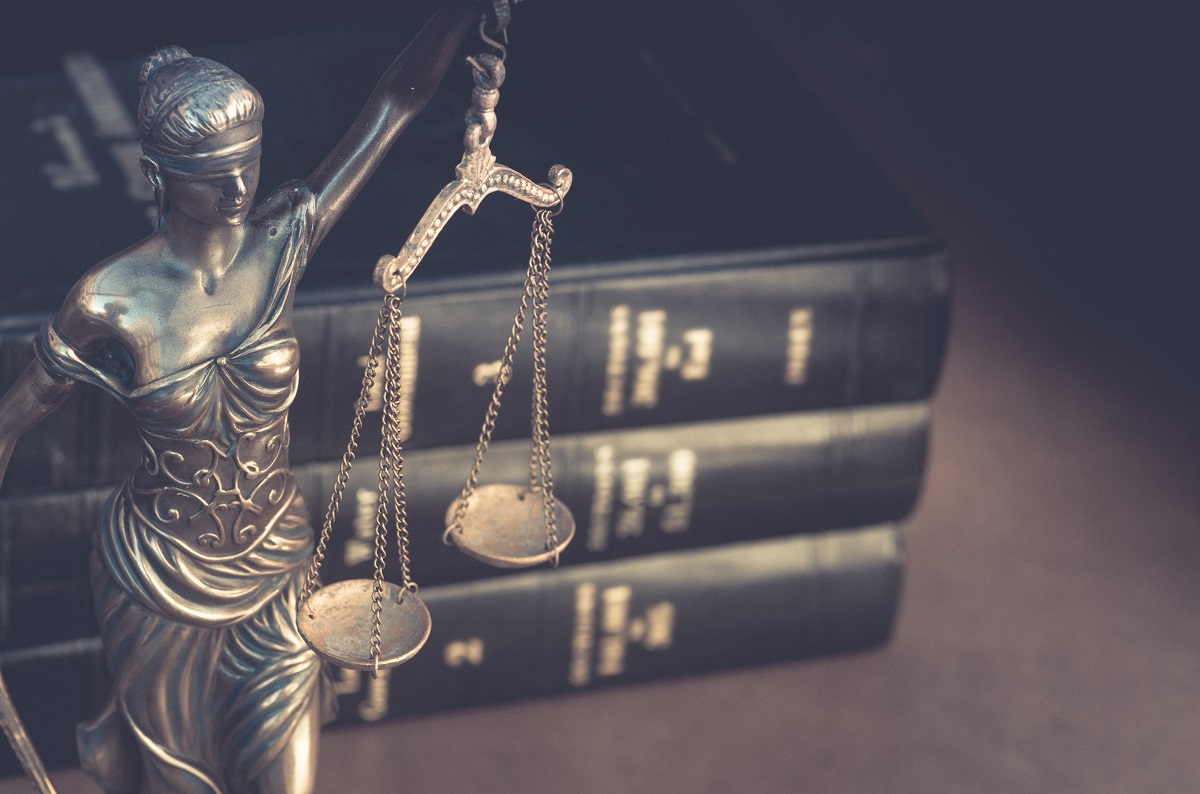 lady justice and law books