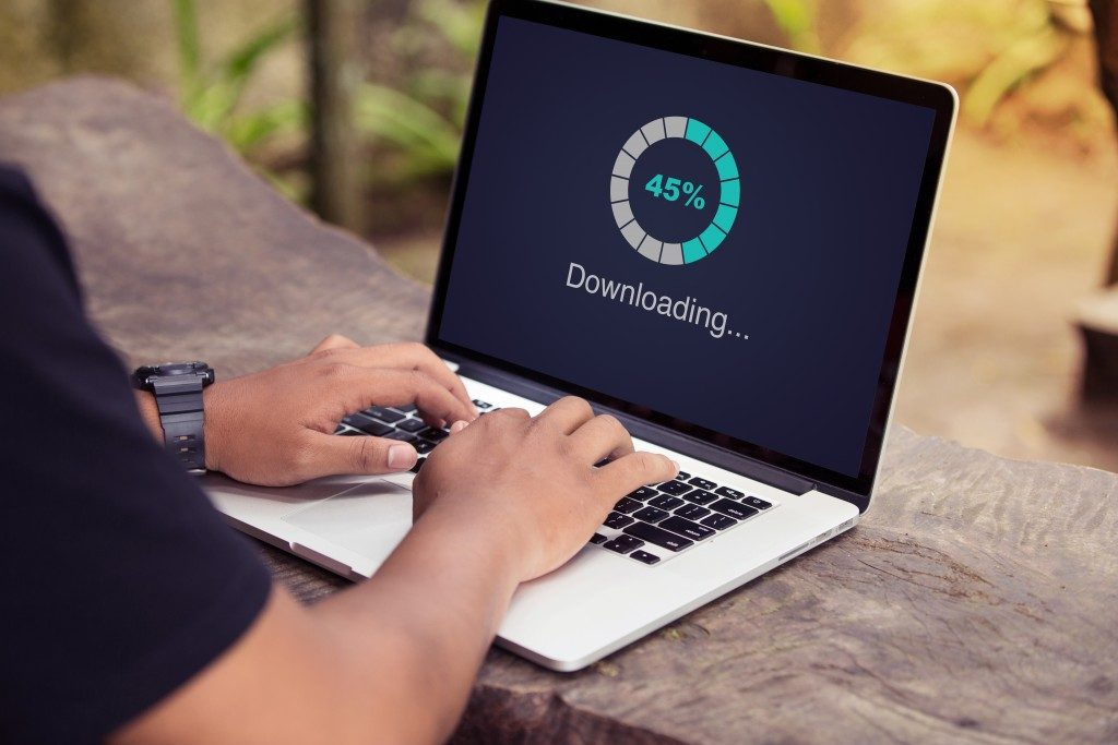 Downloading files on laptop